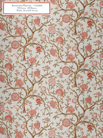 Home Decorative Fabric   Antoinette Harvest
