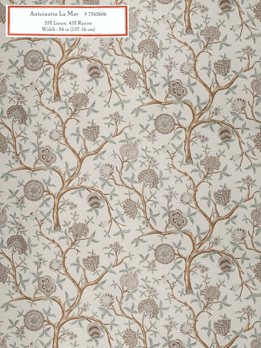 Home Decorative Fabric - Antoinette La Mer