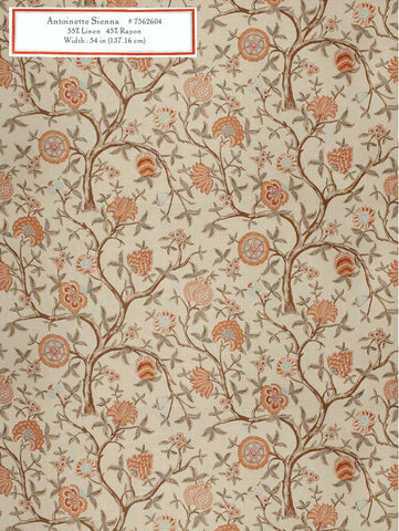 Home Decorative Fabric   Antoinette Sienna