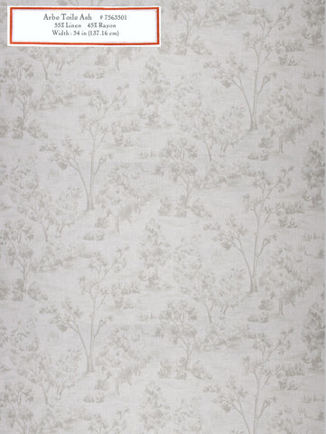Home Decorative Fabric - Arbe Toile Ash