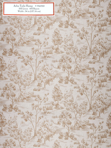 Home Decorative Fabric - Arbe Toile Hemp