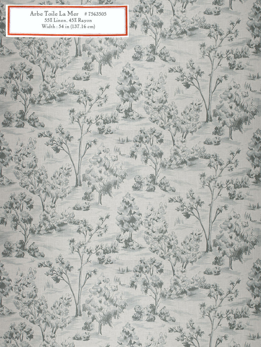 Home Decorative Fabric - Arbe Toile La Mer