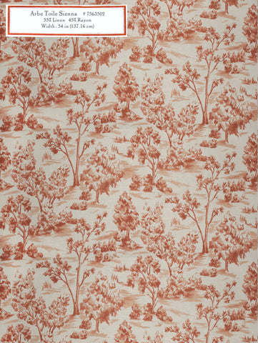Home Decorative Fabric - Arbe Toile Sienna