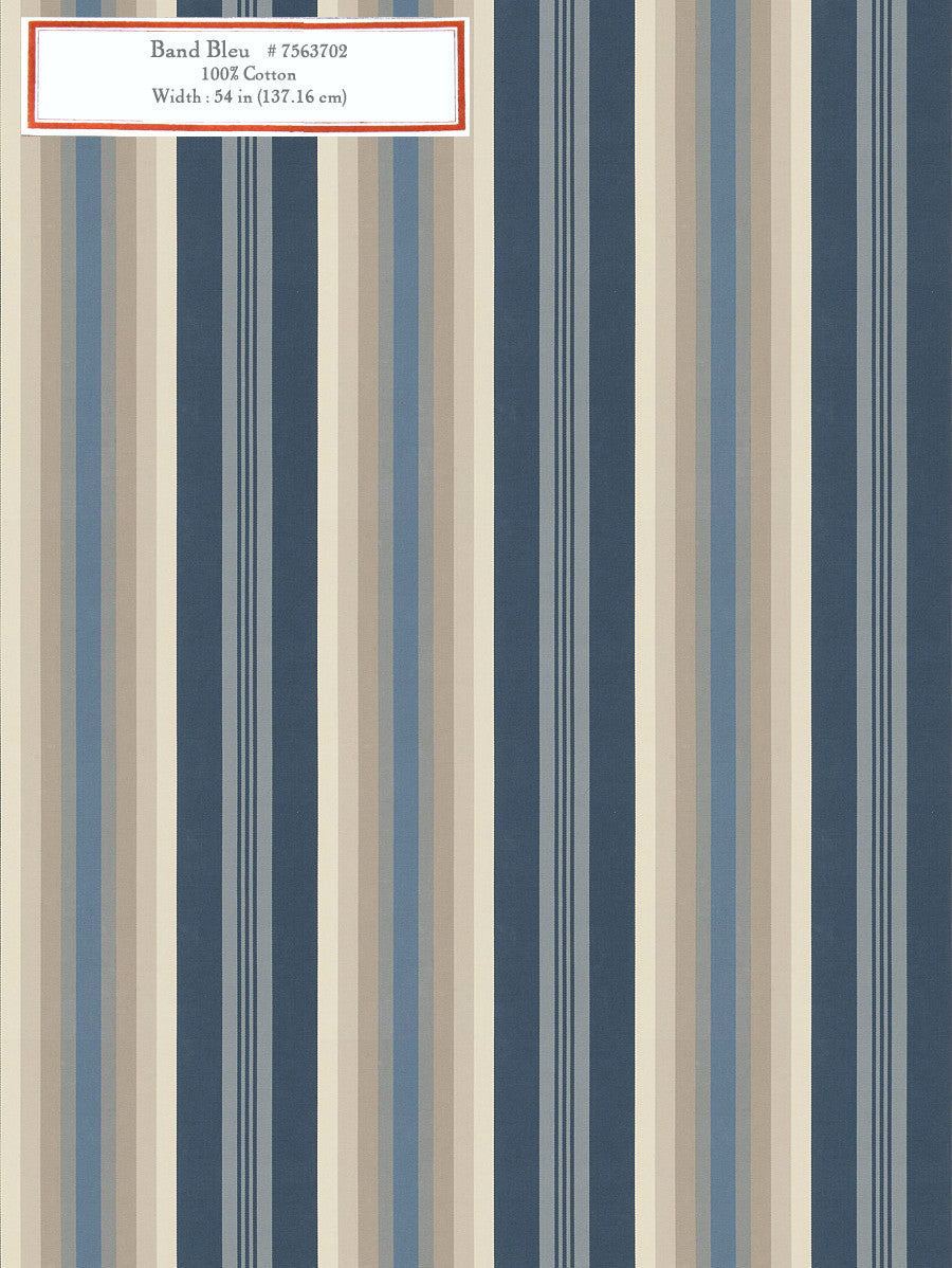 Home Decorative Fabric - Bande Bleu