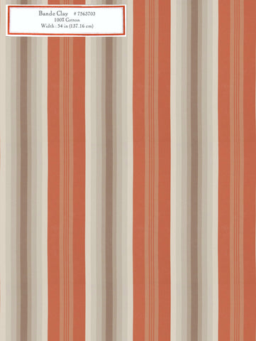 Home Decorative Fabric - Bande Clay