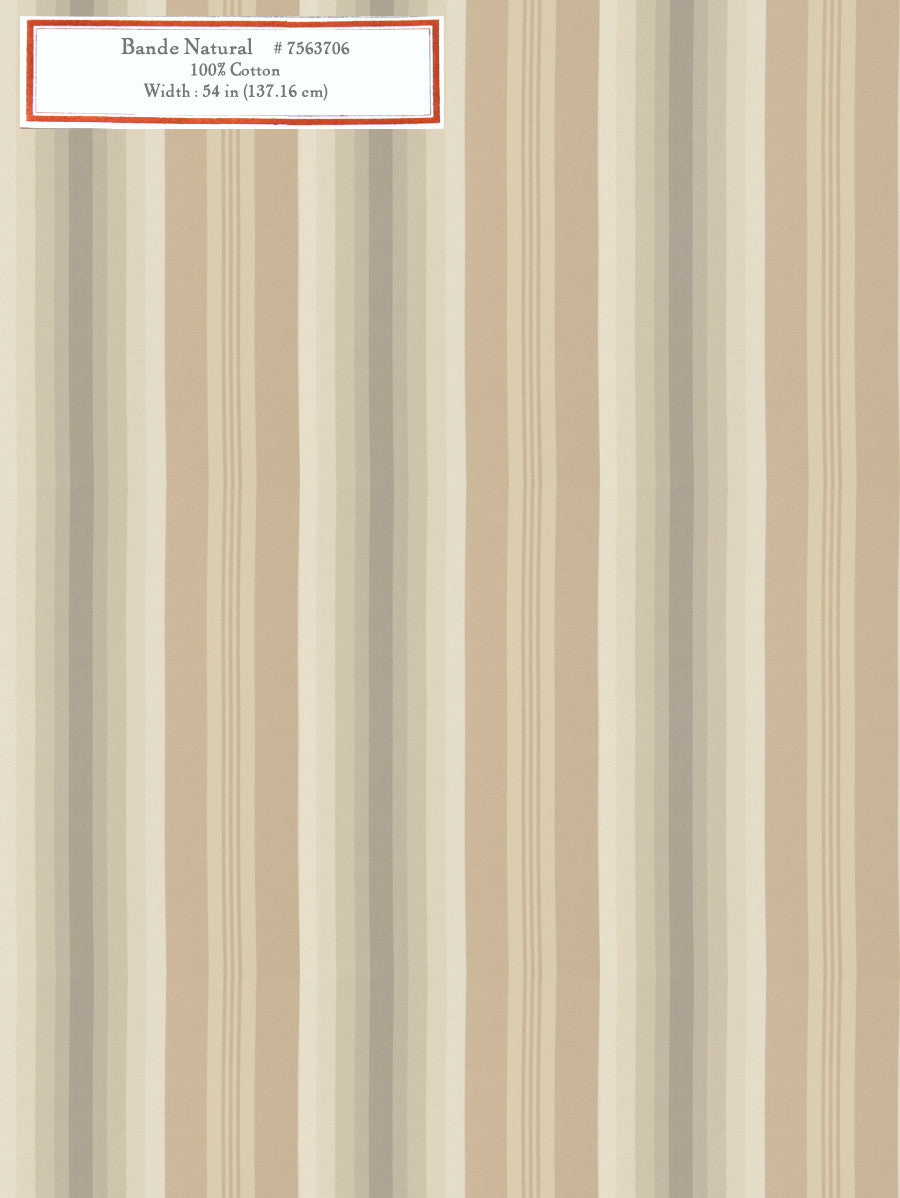 Home Decorative Fabric - Bande Natural