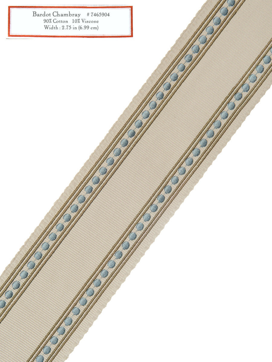 Home Decorative Trim - Bardot Chambray