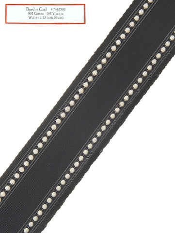 Home Decorative Trim - Bardot Coal