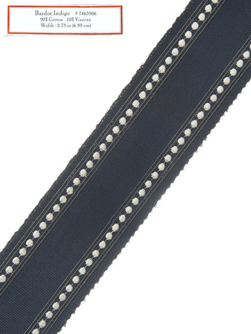 Home Decorative Trim - Bardot Indigo