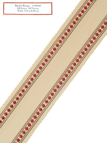 Home Decorative Trim - Bardot Rouge
