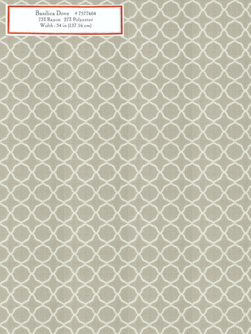 Home Decorative Fabric - Basilica Dove