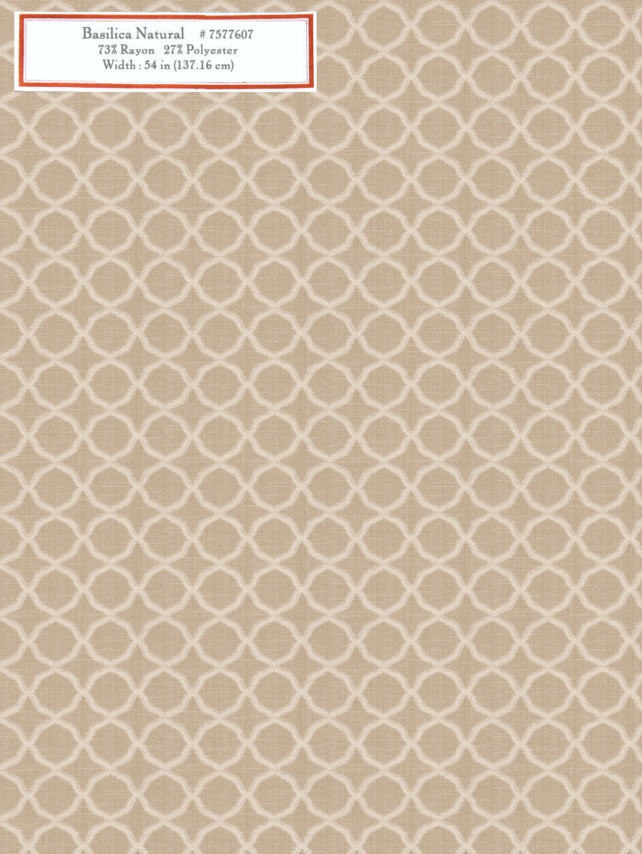 Home Decorative Fabric - Basilica Natural