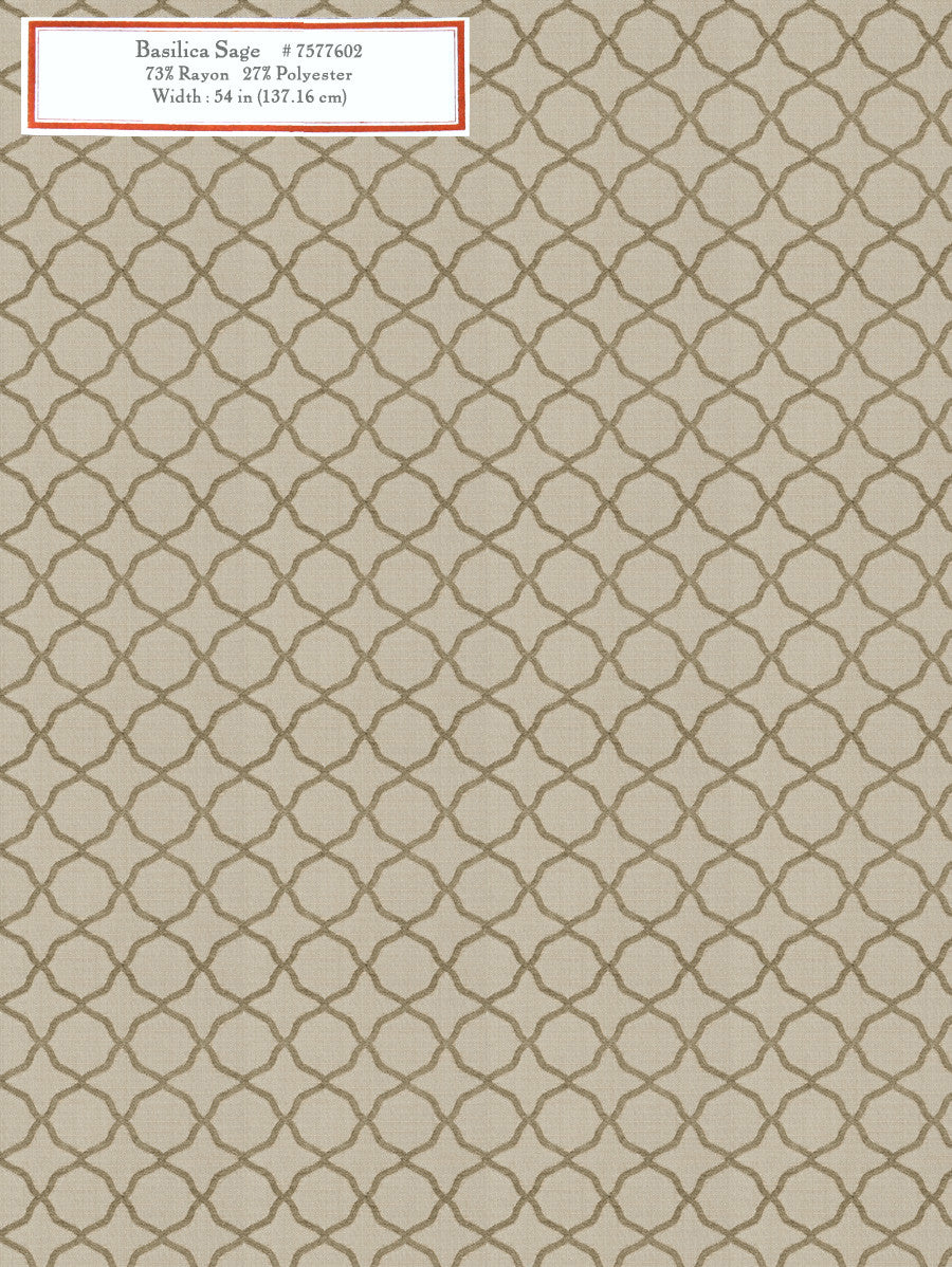 Home Decorative Fabric - Basilica Sage