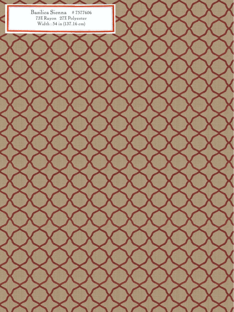 Home Decorative Fabric - Basilica Sienna