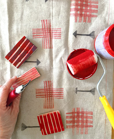 Repeat Pattern Block Printing / Saturday, April 29  11-3pm  SOLD OUT