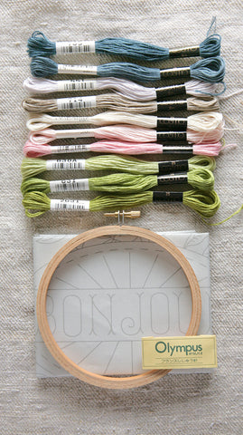 Embroidery Sampler and Floss Kit - Bonjour