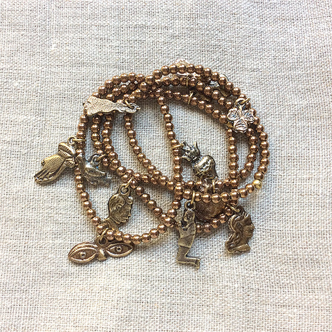 Bronze Beaded Bracelet Kit