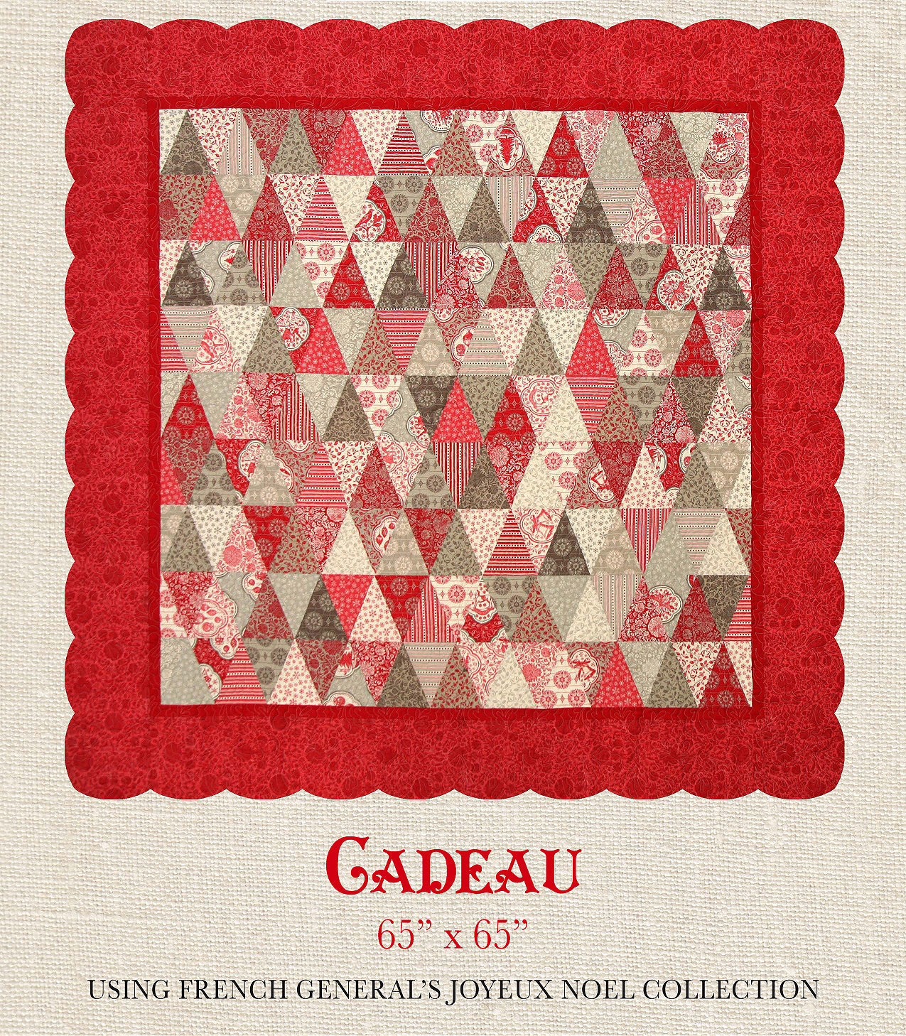 Joyeux Noel Cadeau Quilt Pattern French General