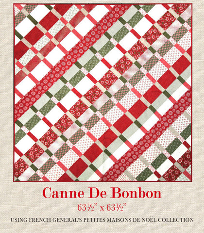 Chateau rouge quilt pattern french general - Canne de noel ...