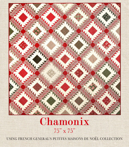 Chateau rouge quilt pattern french general - Petite maison de noel decoration ...