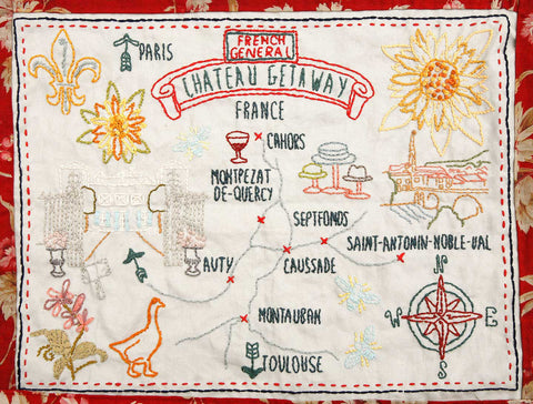 Chateau Getaway Embroidery Sampler