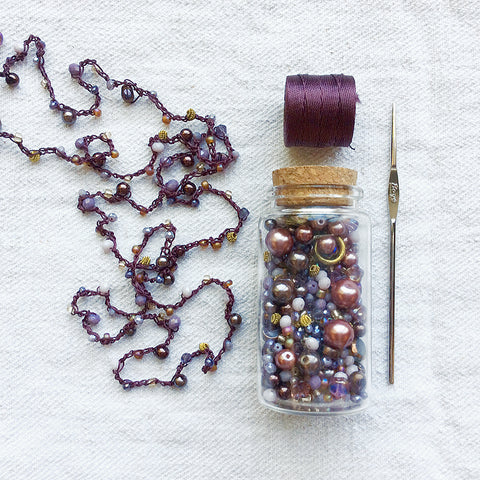 Beaded Crochet Necklace Kit