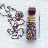 Beaded Crochet Necklace Kit - Five Colors!