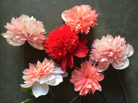 Paper Flowers with Tiffanie Turner / Saturday, September 16th 2:30-6pm / Peonies