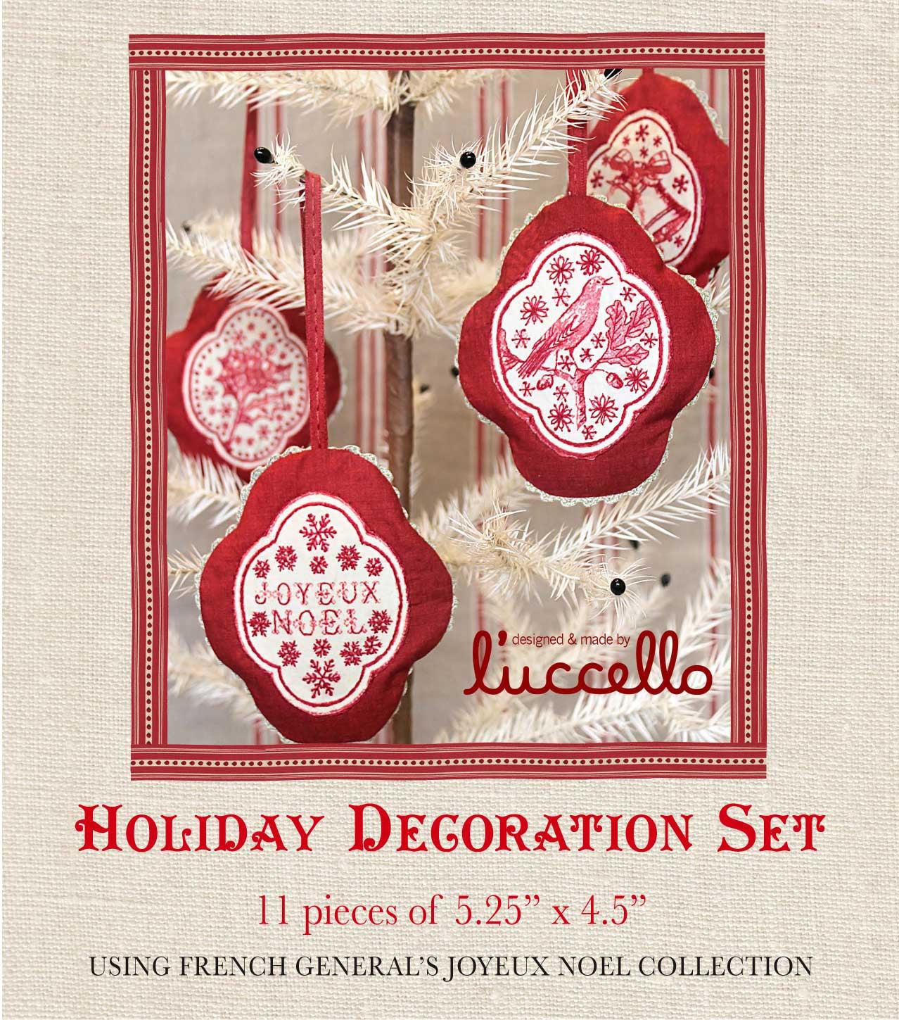 Joyeux Noel - Holiday Decoration Pattern
