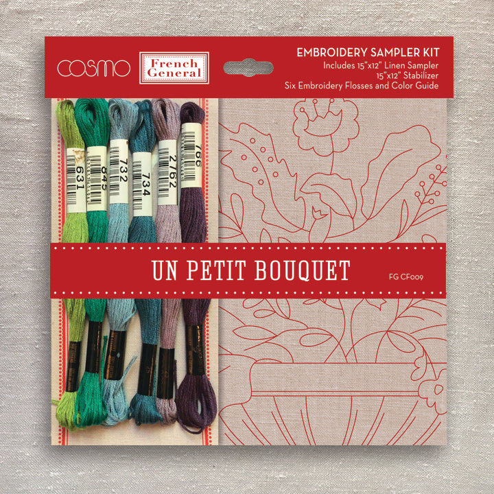 Un Petite Bouquet Embroidery Sampler Kit