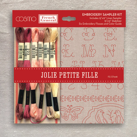Jolie Petite Fille Embroidery Sampler Kit