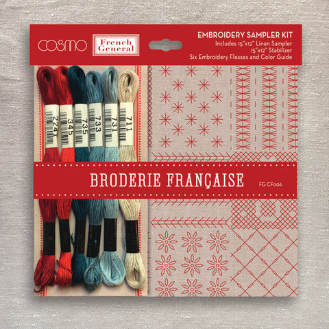 Broderie Francaise Embroidery Sampler Kit