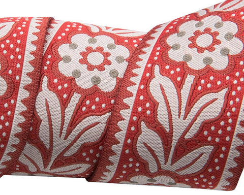 Renaissance Ribbon - Art Deco Floral and Dots / 2 yards
