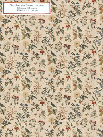 Home Decorative Fabric - Fleur Botanical Sienna