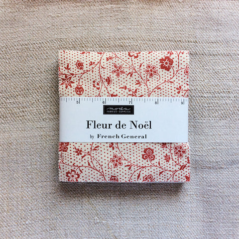 Moda French General Fleur De Noel Charm Pack