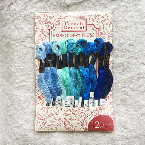 Embroidery Floss - Blue Palette