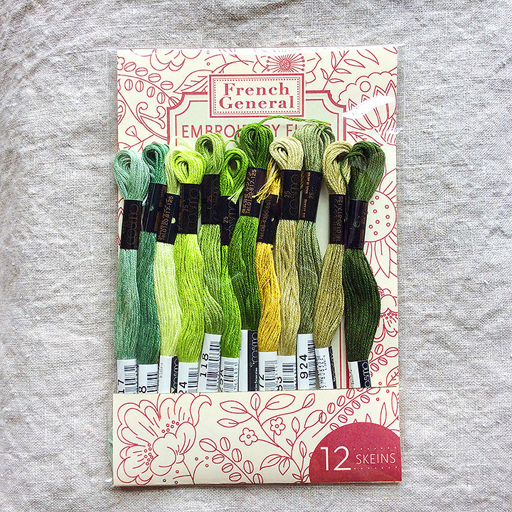 Embroidery Floss - Green Palette