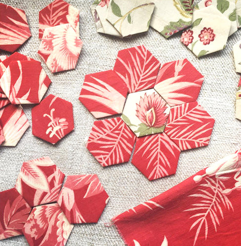 English Paper Piecing Florets - Saturday, February 24th 11 am