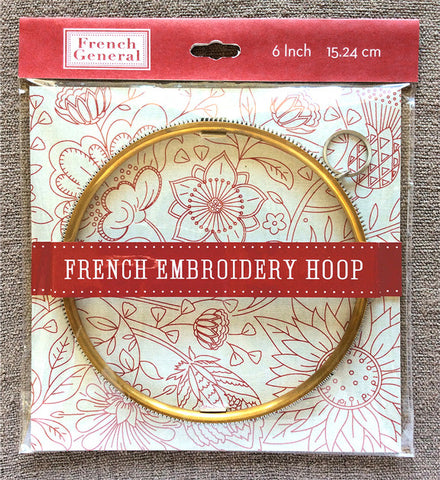 "French Embroidery Hoop 6"" - PRE-ORDER!"