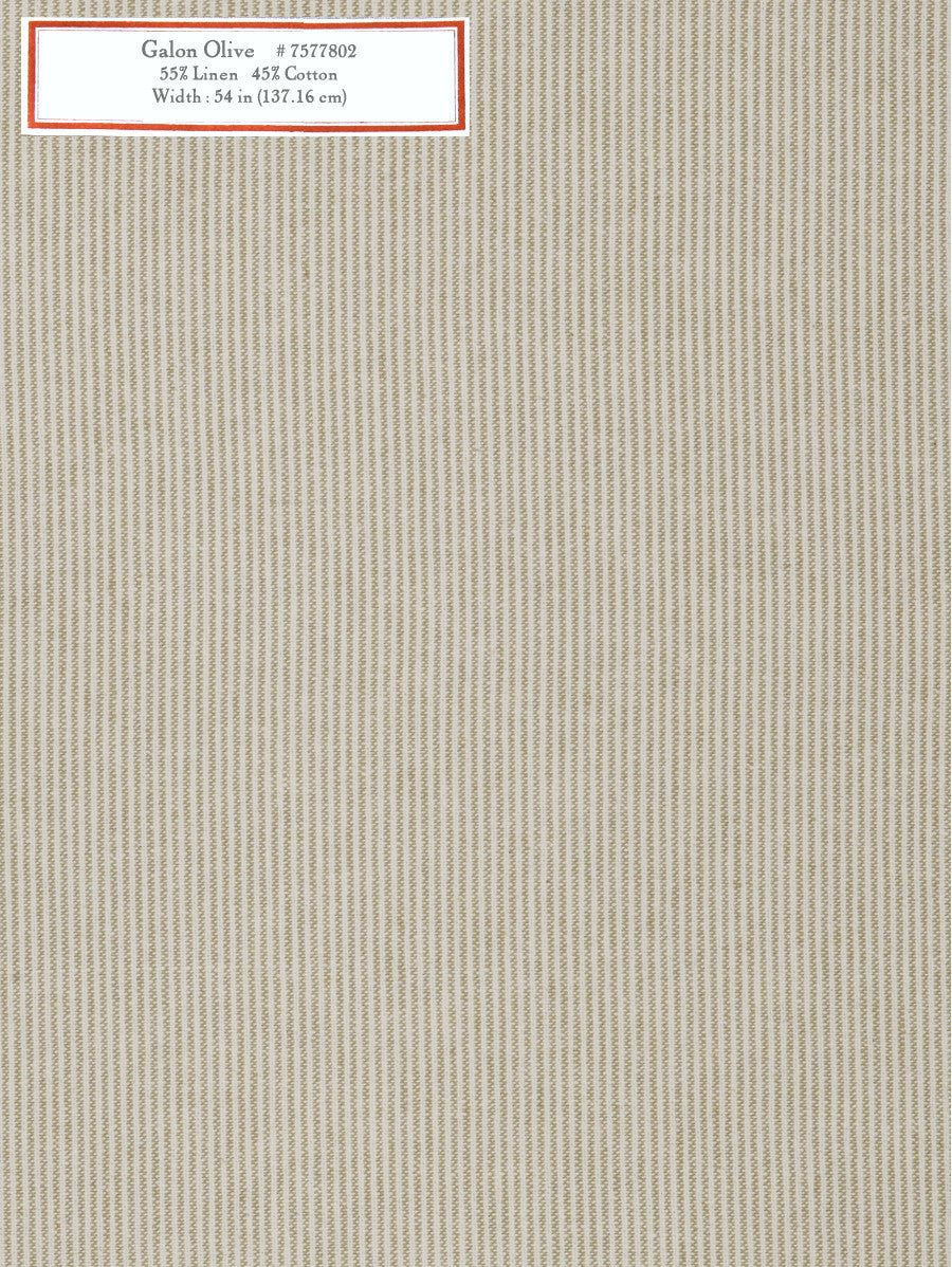 Home Decorative Fabric - Galon Olive