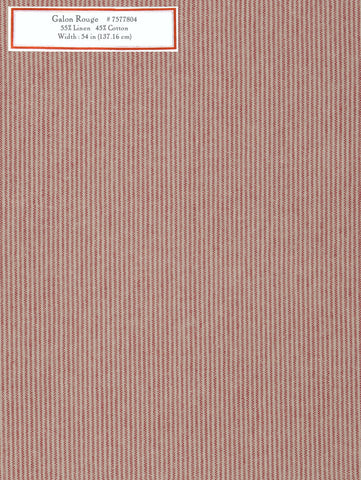 Home Decorative Fabric - Galon Rouge