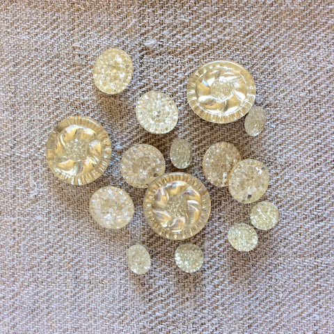 Vintage Glass Buttons - Mixed