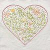 Floral Heart Embroidery Sampler