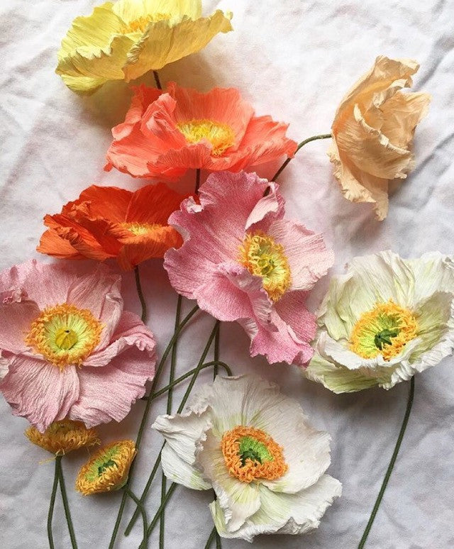 Paper Flowers with Tiffanie Turner / Saturday, September 16th 10-1:30pm / Poppies