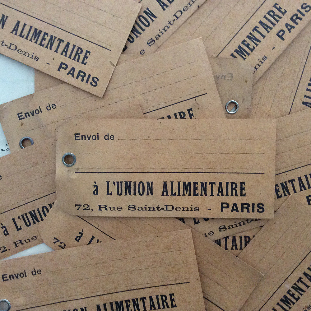 Antique French Tickets - Union Alimentaire