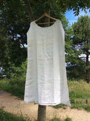 Antique French Linen Chemise - CR Monogram