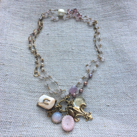 Pink Moonstone Necklace Kit