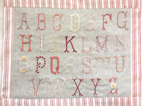 Belle Lettres Embroidery Sampler Kit