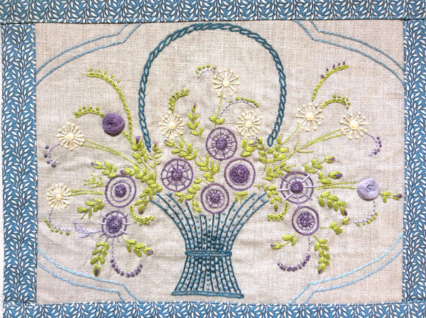 Panier D Amour Embroidery Sampler Kit French General