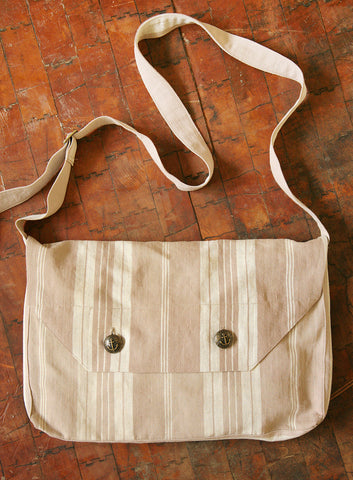 Putty Striped Ticking Bag